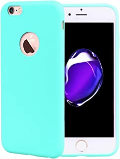 2effab910f8 CoqueCase Funda iPhone 6s Silicona Suave Flexible Antigolpes Ultrafina Goma  Case Ultra Delgado Caso Color Cubierta