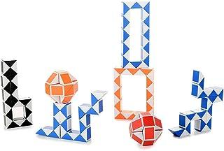 EisEyen 24 blocchi Mini serpente cubo 3D Twist Puzzle gioco magico cubetti magici colori casuali