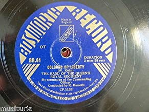 78 rpm BAND OF QUEENS ROYAL REGIMENT colours of liberty / grand re-union