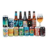 Great British Mixed Craft Beer Case Gift Set Selection with Glass (15 Pack) - Perfect Gift for Father's Day