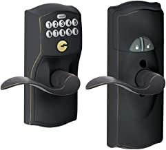 SCHLAGE FE599NX Camelot by Accent Keypad Entry with Z-Wave with 16086 Latch 10027 Strike Aged Bronze Finish