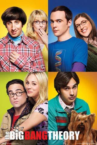 The Big Bang Theory - Mosaik - Poster Kino Movie TV-Serie - Größe 61x91,5 cm + 1 Packung tesa Powerstrips® - Inhalt 20 Stück