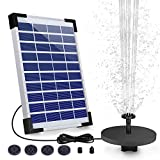 AISITIN 5.5W Solar Fountain Pump, Solar Water Pump Floating Fountain Built-in 1500mAh Battery, with 6 Nozzles, for Bird Bath, Fish...