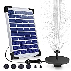 AISITIN 5.0W Solar Fountain Pump - Top 10 Best Solar Pond Pumps