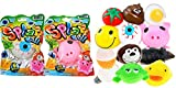 JA-RU Splat Balls Sticky & Stretchy in Bulk (2 Pack Assorted) Styles May Vary. Stress Toy Balls for Kids Games. Squishy Smash Water Ball Toy. Plus 1 Bouncy Ball. 5303-2p