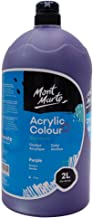 Mont Marte Studio Acrylic, Violet, 1/2 Gallon (2 Liter). Ideal for Students and Artists. Excellent Coverage and Fast Dryin...