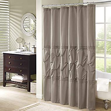 Comfort Spaces – Cavoy Shower Curtain – Taupe – Tufted Pattern - 72x72 inches
