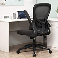 Simple & Elegant - Sleek design and simple adjustment mid-back desk chair. Match different decorative styles. Flip-up Arms - Space saving flip-up arms for different situations. When it is empty, you can put it under your desk Height Adjustable - Chai...