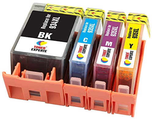 TONER EXPERTE 4 XL Cartuchos de Tinta compatibles con HP 934 934XL 935 935XL para Impresoras HP Officejet Pro 6230 6830 6820 6812 6815 6835 6220   Alta Capacidad