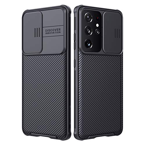 Nillkin for Samsung Galaxy S21 Ultra Case, CamShield Pro Case with Slide Camera Cover, Slim Protective Case for Samsung S21 Ultra 5g case (6.8'') (Black)