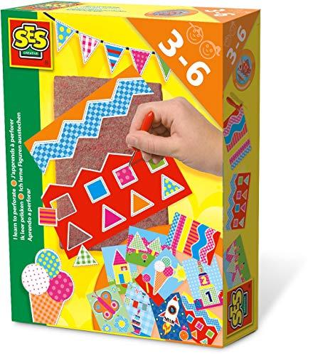 SES Creative- Aprendo a perforar SES, Multicolor (14836)