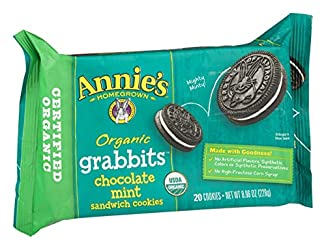 Annie's Organic Grabbits Chocolate Mint Sandwich Cookies, 8.06 oz, 20 ct