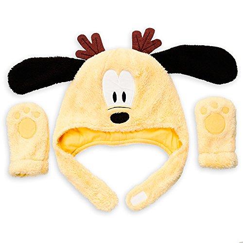 Disney Pluto Ensemble bonnet et moufles pour bébé 12-18 mois Jaune