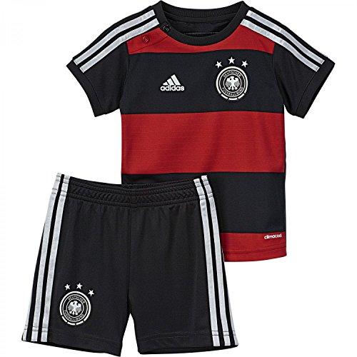 adidas Kinder Trainingsshirt DFB Babykit Away WM, Schwarz/Rot, 80