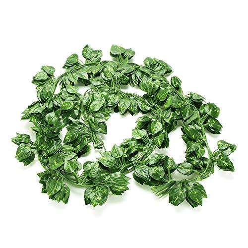 Efeu Künstlich Girlande, NIAGUOJI 84 Ft-12 Stück Grün Efeu, Pflanzen Efeuranke, Efeu Hängend Girlande für Garten Hochzeit Party Wanddekoration