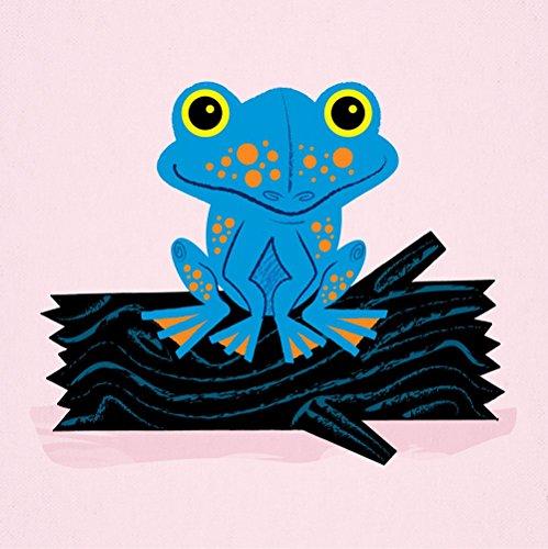 Grenouille sur une bûche – Signé – édition limitée – Art – Décoration chambre enfant – Animaux Poster Print par Oliver Lake