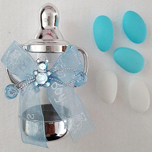 10 Stück mit 5 Mandeln Gastgeschenk Taufe Babyflasche bebek sekeri vintage Babyparty Tischdeko Taufe