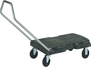 Rubbermaid Commercial Products Triple Trolley Folding Handle Dolly/Cart/Platform Truck with wheels, 500 lbs Capacity, for Moving/Warehouse/Office (FG440100BLA)