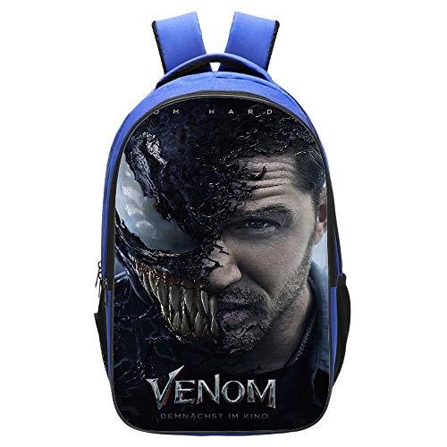 HomeARTS De Los Niños De Escuela del Morral Adolescentes Venom Impreso Mochilas para Niños Y Niñas Bolsas Escuela 6-15 Años H: 42cm * L: 29cm * W: 16cm Marvel Venom-E