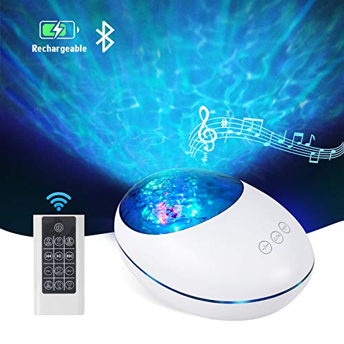 Ocean Wave Projector Lamp Night Light with Remote Control and Timer,...
