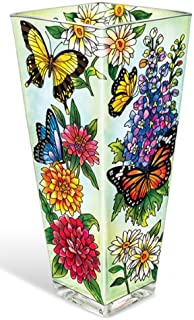 Amia 10-Inch Vase with Butterfly Design