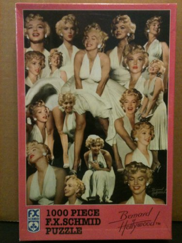 Marilyn in White Bernard of Hollywood 1000 PCS Puzzle by Bernard Hollywood
