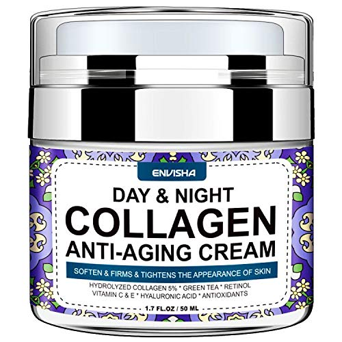 513+LtBeSuL - Wumal Day and Night Cream - Organic Collagen Cream for Women & Men - Anti Aging Face Moisturizer with Hyaluronic Acid & Vitamin C, Helps Cleanse, Moisturize, Rejuvenate, and Brighter Your Skin