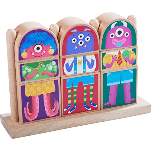 HABA Highlights Mix & Match Wooden Monster Blocks