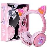 Auriculares Bluetooth para Niños con Orejas de gato, Cascos Bluetooth...