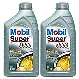 2X 1 L Liter Mobil Super™ 3000 X1 5W-40 Motor-Öl Motoren-Öl