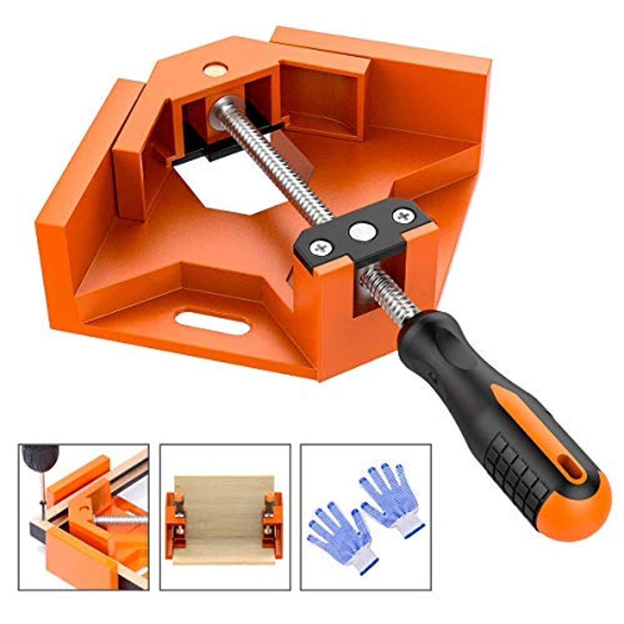 学期お別れ飛行場Frylr 90° Right Angle Clamps/Adjustable Corner Clamp Holder Tools with Adjustable Swing Jaw for Carpenter, Welding, Wood-working, Engineering, Photo Framing [並行輸入品]