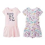 Peppa Pig Girls T-Shirt Toddler Dresses for Girls 2 Pack Pink/White 2T