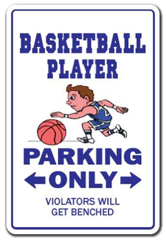 Basketball Player Aluminum Sign Parking Fan Hoops Team Sport Coach Basket   Indoor/Outdoor   18' Tall