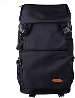 CHENDX Handbags Upscale Men and Women Outdoor Mountaineering Large Capacity Travel Bag Waterproof Backpack (Color : Black, Size : 52cm*30cm*16cm)