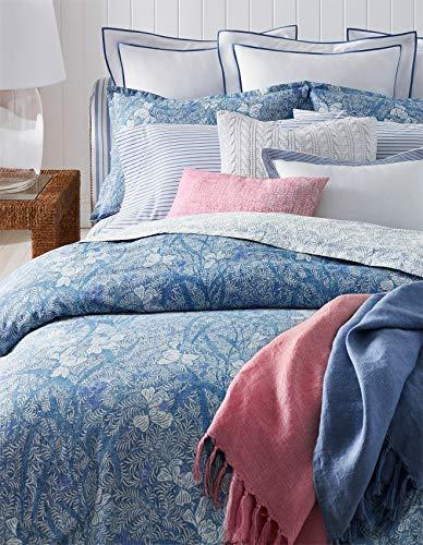 Ralph Lauren Meadow Lane Collection Kaley Bohemian Floral Cotton Comforter, Coastal Blue, Full/Queen
