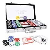CCLIFE 300 500 PCS Pokerset Profi Pokerspiel inkl. Pokerkoffer Pokerdecks Dealer Button Poker Set...