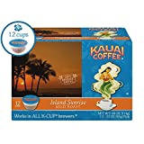 Kauai Coffee Single-serve Pods, Island Sunrise Mild Roast – 100% Premium Arabica Coffee from Hawaii's Largest Coffee Grower, Keurig-Compatible Cups - 12 Count