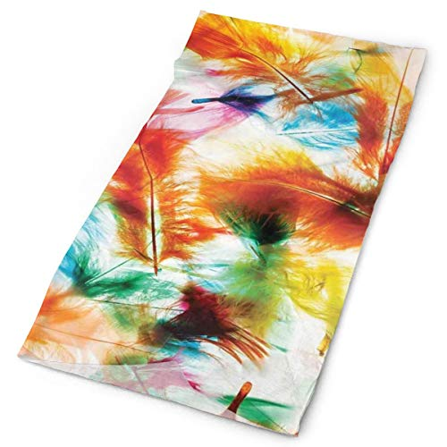 GUUi Headwear Headband Head Scarf Wrap Sweatband,Psychedelic Blurry Mix of Feathers Pure Energy of Love and Life Wing Art Icons,Sport Headscarves for Men Women
