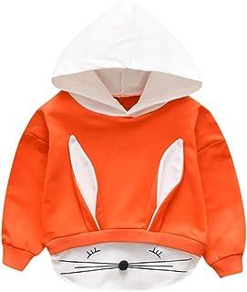 K-Youth Sudadera con Capucha Niño Otoño Invierno 0-3 año Orejas de Conejo Ropa Bebe Niña Recien Nacido Chandal Bebe Niño A...
