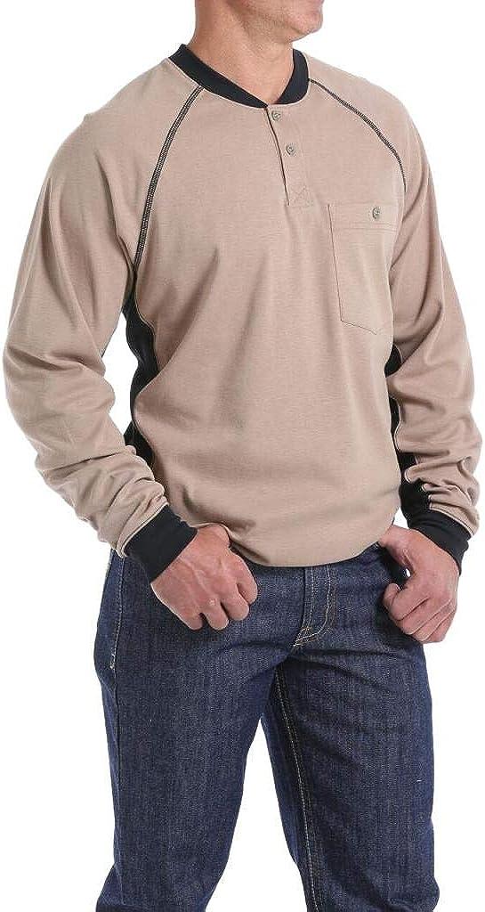 Cinch Men's Fr Henley Long Sleeve Work T-Shirt