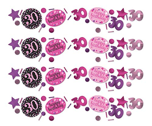 amscan 9900594 Lot de 3 Confettis, cotillons pour 30e Anniversaire, 34 g
