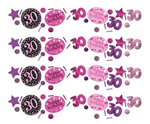 Amscan 9900594 - Konfetti 30 Sparkling Celebration, Folie/Papier, 34 g, Streudeko, Tischdekoration, Geburtstag, Happy Birthday