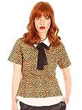 Minueto Camiseta para mujer con estampado de leopardo Betsy Top leopardo XL