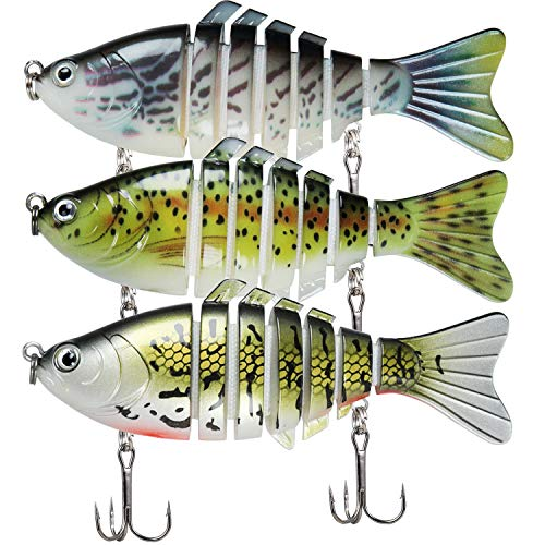 TRUSCEND Señuelos Pesca para Lubina Lucio Carpa, Pesca Accesorios, Cebo Swimbait de Hundimiento Lento / Surfcasting , Kit de Pesca , Regalos Pesca para Hombre