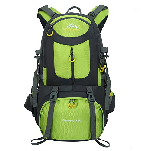 Huwaijianfeng Travel Backpack Ucharge 50L Waterproof Hiking Backpack Unisex Travel Multi-Purpose Climbing Backpacks Hiking Big Capacity Rucksacks Camping Sports Bags(Green)