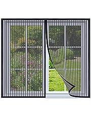 Magnetische vliegengaas voor ramen 160x160cm Zwart Magnetische insectengaas hordeur, magnetisch Vliegengordijn, insectenhor muggengaas magneet Vliegenhor voor raam en hordeur