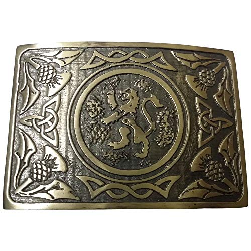 color cromado 3 envejecido estilo celta Hebilla de cintur/ón redondo con nudo celta y hebilla para cintur/ón de monta/ña