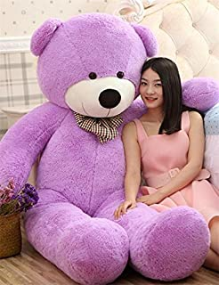 VERCART 63 inch Purple Giant Huge Cuddly Stuffed Animals Plush Teddy Bear Toy Doll