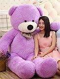VERCART 4 Foot 47 inch Purple Giant Huge Cuddly Stuffed Animals Plush Teddy Bear Toy Doll