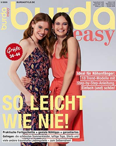 Burda easy Nähmagazin 2020#03 Sommer-Ausgabe Schnittmuster für Nähanfänger